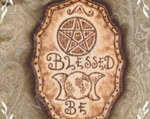 Blessed Be Witch Pagan Wiccan Wicca Sign Plaque Wall Art