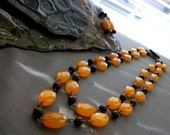 Antique Sunset Necklace and Earring Set