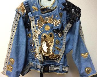 Vintage Denim Jacket by JouJou