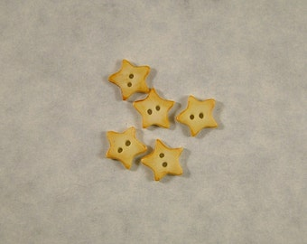 Tiny Star Buttons set of 5