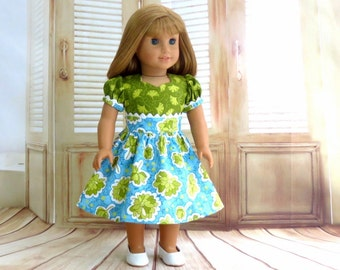 American Girl Doll Dress, AG Doll Clothes, Easter Dress, Birthday Dress