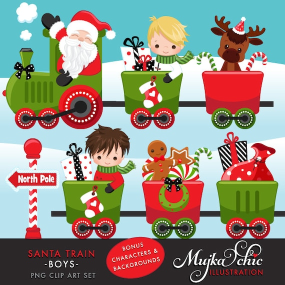 christmas santa train clipart choo cho polar express cute rh catchmyparty com christmas toy train clipart Trains at Christmas