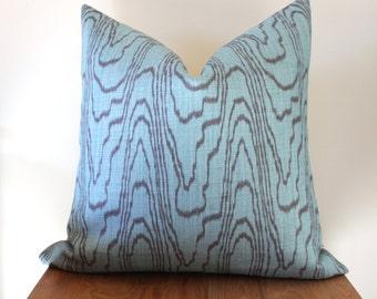 """24"""" Pillow Cover Kelly Wearstler Agate in Lake & Mink Designer Pillow Cover"""