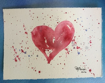 Valentine 2016 an Original Watercolor Painting 5x7 inches
