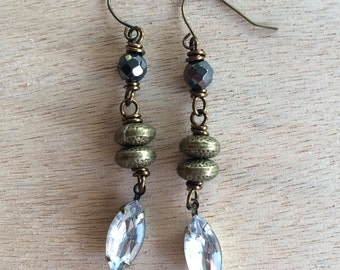 Mixed Metal Sparkle Earrings