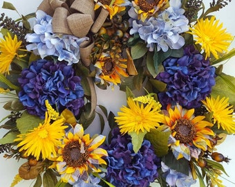 Fall Wreath...Sunburst Wreath....Hydrangea Wreath....Sunflower Wreath