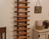 Multiple Rolling Pin Rack Wooden Rolling Pin Farmhouse Storage Shelf Primitive Finish 6, 8, 10 or 12 Pin Rack Color Choice