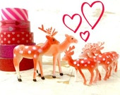 For Valentine Cupcakes,  I Love You Deer, And Holiday SNOW GLOBES- 18 Small Plastic Deer, Three FULL Sets