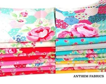 Flower Sugar Spring SP15 - Lecien Fat Quarter fabric bundle - 19 piece set