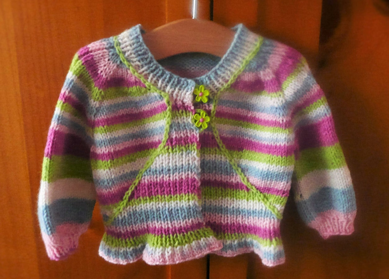Knitting Pattern Cardigan Jacket Sweater Top Down by ceradka
