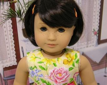 Botanical Beauty - sleeveless dress for American Girl doll  **Sale**