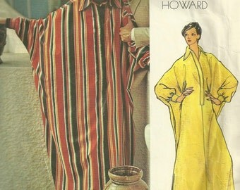 Vogue 2894 1970s Misses Dolman Sleeve CAFTAN Pattern Chuck Howard Desert Robe Womens Vintage Sewing Pattern Size 12 Bust 34 UNCUT