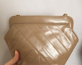 Vintage Salvatore Ferragamo Bag Purse Beige Leather