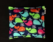 Flannel Corn Heating Pad, Corn Bag, Microwave Heating Pad, Heated Bag, Children's Corn Bag, Relaxation Gift, Ice Pack, Colorful Whales