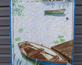 Wall Hanging Quilt Lakeside Retreat Summer Paradise Door Banner