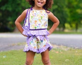 Girls Ruffle Shorts - Short Set - Girls Summer Outfits - Toddler Shorts - Birthday Outfit - Boutique Outfit - sizes 2T to 8 Years