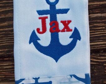 Anchor Custom Monogrammed Personalized Burp Cloth