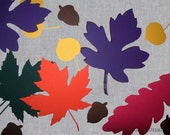 Paper Leaves Assortment - Autumn Leaf Die Cuts - Fall Leaf Shapes for School Bulletin Boards - Thanksgiving Decorations - Papercraft Supply