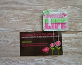"""Fun Planner Clips - Lime Green And Hot Pink """"Mermaid Life"""" Paper Clip Or Bookmark - Planner Inspiration And Goodies"""