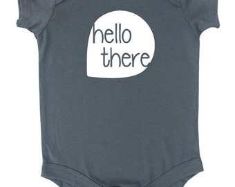 Hello There Silhouette Baby Bodysuit