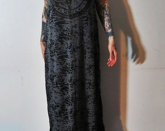 Hell Couture Pentagram Burnout Maxi Dress