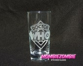Classic Doctor Who Logo Etched Glass