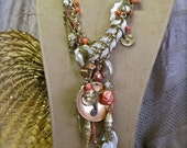 FRESH CATCH of the DAY: Mermaid Necklace Vintage Assemblage Undersea Statement Ocean Beachy Boho Shells Fish Seahorse Coral Pearls Sea Life