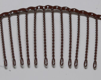 Vintage Hair Comb Pair 1960's Brown Metal Made in Japan 2 Hair Accessoy