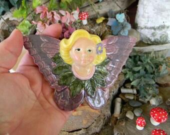 Fairy  miniature Girl Oranment - handmade ceramic garden fairie fae  for your miniature gardens - safe outside  Glazed