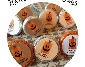 Halloween Hershey Kiss Tags / Kiss Labels / Classroom Treats /Teacher Appreciation /Birthday Party Favors  Neighbor Gifts /You've Been Booed