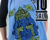 10 Dollar Sale-- Ganesh Heather Blue Triblend Scarf