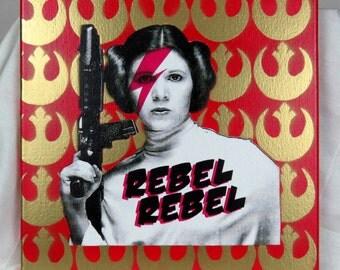 Rebel Leia Screenprinted Wall Art