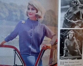 Vogue Knitting Book No 57 1960  - vintage knitting patterns 1960s women's 60s original patterns sweaters cardigans jackets dress bedjacket