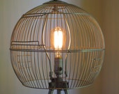 Trialuminorb - birdcage shade for floor lamp - Reserve for Mike