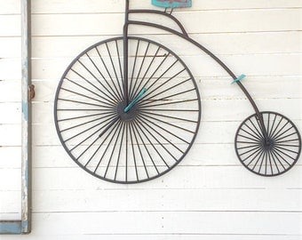 Bicycle Wall Hanging, Bike Art, Bicycle Art, Wall Decor, Paris Apartment, Bicycle, Home and Living