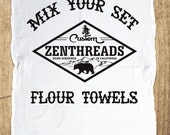Make Your Own Set! Pick Your Favorite 2 Designs. - Multi-Purpose Flour Sack Bar Towels - Renewable Natural Cotton