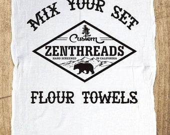 Make Your Own Set! Pick Your Favorite 2 Designs. - Multi-Purpose Flour Sack Bar Towels - Renewable Natural Cotton