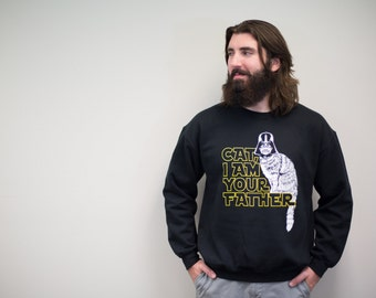 Sweatshirt, cat shirt, cats sweater, star wars, I am Your Father funny sweatshirt, 2X 3X 4X, cat lover gift, mens funny tshirt, fall, cozy