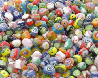 13mm to 7mm Opaque Color Mix Handmade Lampwork Glass Beads - Qty 20 (AS51)