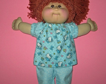 Cabbage Patch Kids Doll Clothes 16 inch Doll   Hello Kitty Pajamas Fits Vintage and Classic Dolls