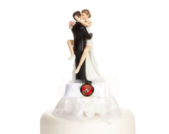 Military Sexy Cake Topper- Air Force - Navy - Army - Marines - Custom Painted Hair Color Available - 109005