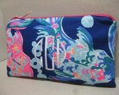 Lilly Pulitzer Make Up Bag/Clutch/Pencil Case  (Going Coastal) w/ or w/out Monogram/Bridesmaid Gift / Preppy/Sorority