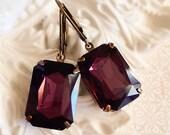 Art Deco Earrings - February Birthstone - Victorian Jewelry - Amethyst Earrings - WINDSOR Amethyst