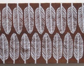 Reclaimed Repurposed Wood-Upcycled hand stamped wall art-ready to hang-Feathers