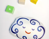 Cloud Baby Rattle / Soft Teether / Plush Pocket Doll / Organic Fabric