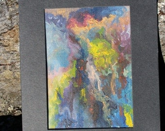 Mini Oil Painting, OOAK, Abstract