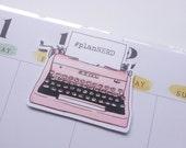 Vintage Typewriter Magnetic Bookmark - Pink Typewriter Planner Clip