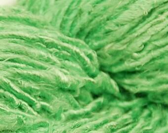 """Banana yarn """"Tonya"""", hand spun, hand dyed, vegan yarn"""
