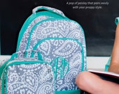 Personalized Monogramed Backpack AND Lunchbox Boys and Girls