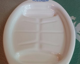 Corning Ware ~ Platter ~ P-19 ~ Broil and Serve ~ Cornflower Blue